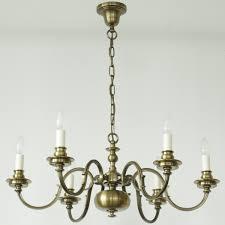 Six Flame Empire Brass Chandelier Casa Lumi