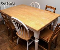kitchen table. Fine Table Before U0026amp After Mesmerizing Kitchen Table To