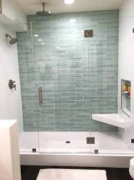 showers glass tile showers best subway images the on for regarding bathroom plan