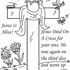 Easter Coloring Pages For Children S Church With 25 Religious Easter
