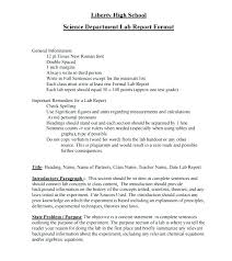 To Chemistry Lab Report Template Formal Science Example