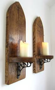 wood sconce sconces candle wall sconces