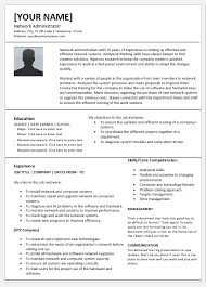 Analytical Skills Resumes Network Administrator Resume Template For Word Word