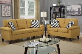 recent yellow sofa chairs with regard to yellow fabric sofa and loveseat set steal a