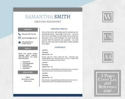 Words To Describe Yourself On Resume Awesome Resume Template Word Modern Contemporary Resume 48 Page CV Etsy