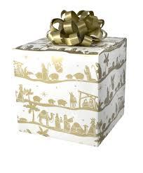 nativity gift wrap
