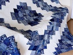 Chicago Blue and White Batik Quilt | Quilting Stories & Batik quilt Adamdwight.com