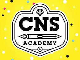 cartoon network studios academy white black orange blue branding ilrator logo ilration