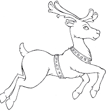 Small Picture Reindeer Run Christmas Coloring Pages Kids Coloring Pages