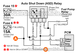 the pcm activates the asd relay and the fuel pump relay at the exact Ford Wiring Harness Diagrams at 2013 Chrysler Pcm Wiring Diagram