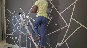 geometric wall paintDIY Geometric Wall Paint  YouTube
