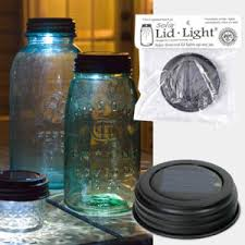 Moon Shiners Solar Powered Jar Lids Light Up The Night And Your Solar Powered Jar Light