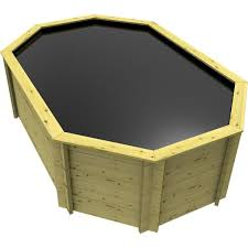 stretched octagonal wooden pond 12ft x 8ft 1099mm height 44mm thick wall