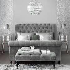 Photo 2 of 7 Wonderful Silver Bedroom Decor #2: Silver & Grey Bedroom Ideas