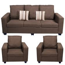Sofa set Furniture Bharat Lifestyle Corsa Fabric  Dark Brown Sofa Set Online Price In India Buybharat Lifesty Argos Bharat Lifestyle Corsa Fabric  Dark Brown Sofa Set Online