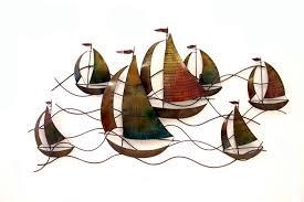 dark brown marine and nautical coastal metal wall art sailing boat sculptures line modern furniture home on dark brown metal wall art with wall art adorable pictures coastal metal wall art beach metal art