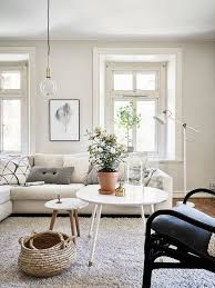 Image Decorative Bright Living Space With Large Cream Sectional Sofa Layered Coffee Tables And Industrial Floor Lamp Pinterest 12 Times Ikea Lighting Made The Room Living Rooms Room Living