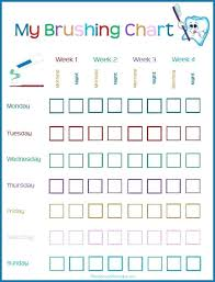 Teeth Cleaning Chart Free Brushing Teeth Chart Tooth For Little Ones Printable Tian Yi
