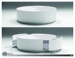 trends decoration round ottoman coffee table storage leather cocktail