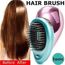 <b>Portable Electric Ionic</b> Hairbrush Takeout Mini <b>Ion Hair</b> Massage ...