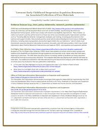 vermont early childhood suspension expulsion resources an  vermont early childhood suspension expulsion resources an annotated collection of materials