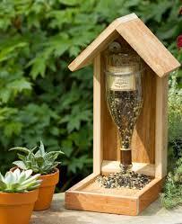 upside down wine bottle bird house