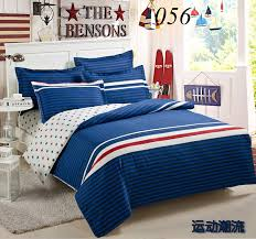 Twin Full Queen King Cotton 4pcs Bedding Sets Bedclothes Set Flat ... & Twin Full Queen King Cotton 4pcs Bedding Sets Bedclothes Set Flat Bed Sheets  Quilt Cover Duvet Cover Pillowcase Blue White Red-in Bedding Sets from Home  ... Adamdwight.com
