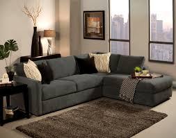 L Shaped Living Room Furniture Living Room Decor With Dark Gray Sofa Impressive Ottoman Tray In
