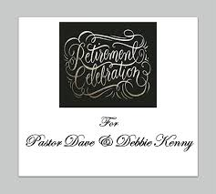 retirement celebration for pastor dave and debbie kenny