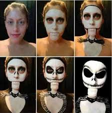 jack skellington nightmare before step by step and face paint