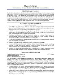 Example Resume Sample Executive Summary Templates Assistant