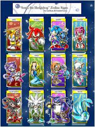 Sonic Zodiac Chart Sonic The Hedgehog Photo 20679935