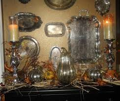 Decorating With Silver Trays 100 best Silver Decorating images on Pinterest Silver platters 22