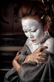 photo of woman with anese white makeup
