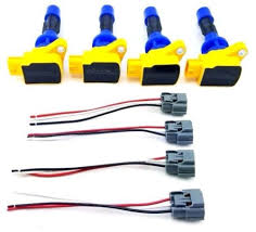 4 pcs 2006 2010 ignition coil packs & wire harness repair kit speed Wiring Harness Connectors 4 pcs 2006 2010 ignition coil packs & wire harness repair kit speed 3 6 cx7 mx5