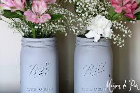 chalk painted mason jar tutorial