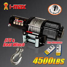 i max 12v wireless 4500lbs 2041kgs electric winch atv 4wd 4x4 boat image is loading i max 12v wireless 4500lbs 2041kgs electric winch