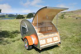 Small Picture Tiny Yellow Teardrop Rent a Teardrop Trailer