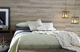 feature wall with laminate flooring