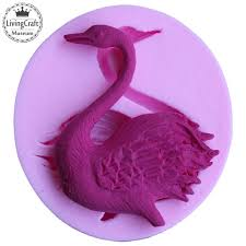 Cake Decorating Accessories Wholesale New Manual Soap Mold DIY Silicone Swan Stencil Fondant Mold Cake 53