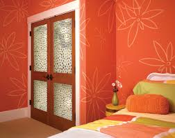 bedroom door painting ideas. Painting Ideas For Adorable Bedroom Door Design Inspiration With Wooden Paneling Mounted At Lovely Flower Wall Paper Print
