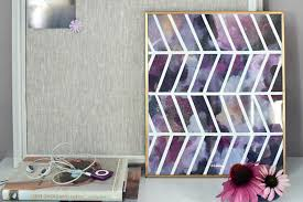purple chevron wall art on chevron canvas wall art diy with 13 lovely pieces of wall art you can easily make yourself