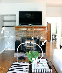 beautiful fireplace hide wires put cable box mounting flat screen tv over brick diy mount wall