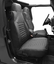 bestop bestop high back seat covers for 92 94 jeep wrangler yj pair