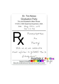 Prescription Pad Printable Invitations By Template Download Gemalog