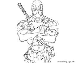 Small Picture Deadpool Anti Hero Coloring Pages Printable