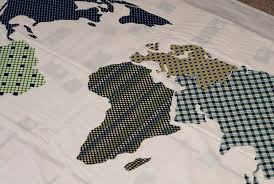 World Map Quilt || Home Sewn Series - Shwin and Shwin & World Quilt Pattern || Free Pattern || Shwin&Shwin Adamdwight.com