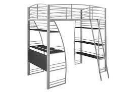 com dhp studio loft bunk bed over desk and bookcase with metal frame twin gray kitchen dining