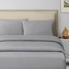 silver double size 150 x 200 30 cm hotel linen fitted bed sheet
