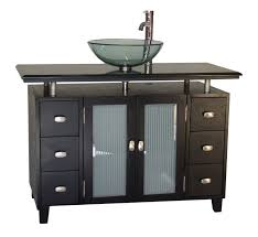 our adelina 46 inch vessel sink bathroom vanity sink cabinet has a sleek beautiful design